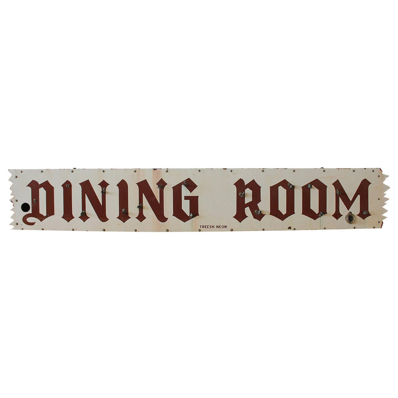 vintage porcelain dining room sign at 1stdibs