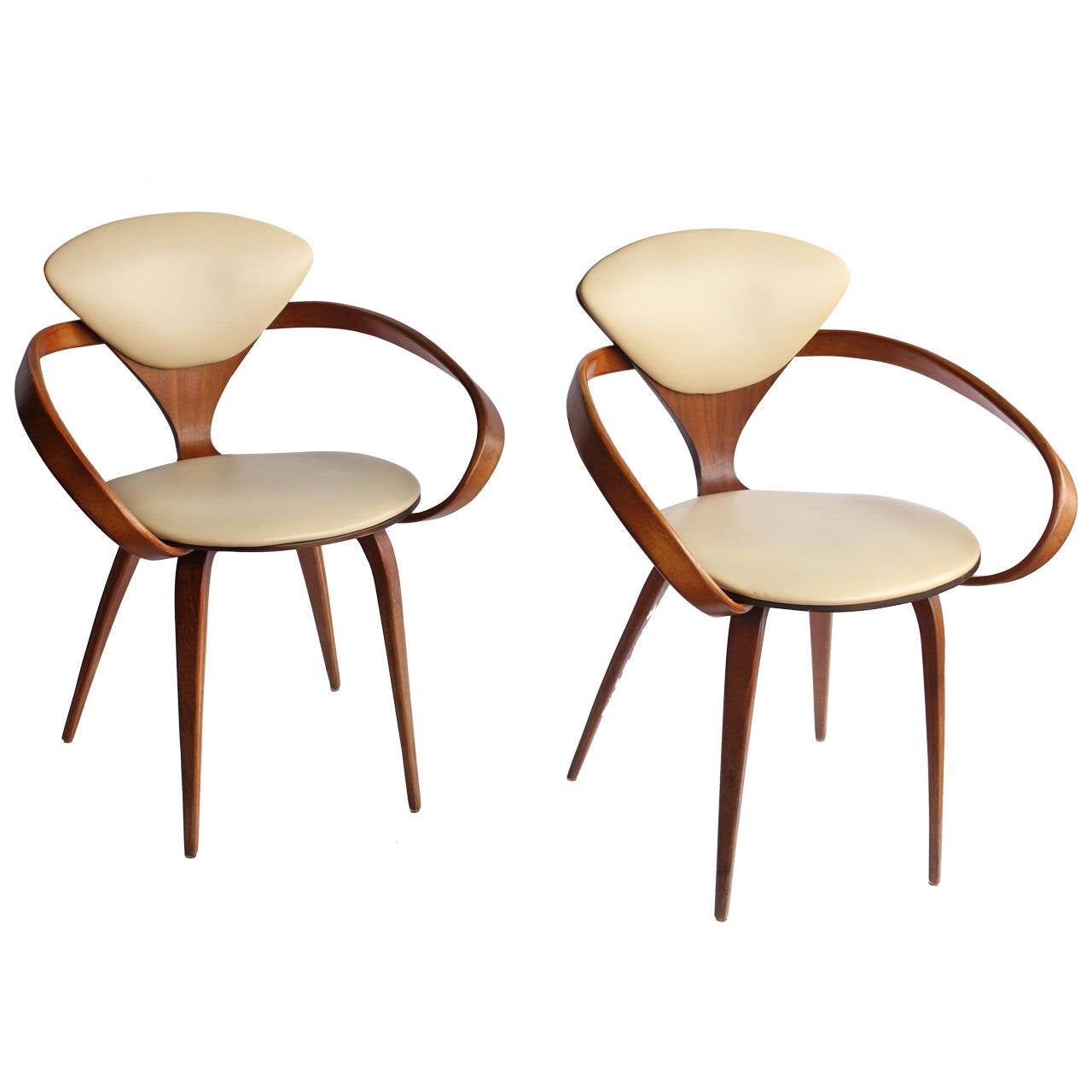 1950s pretzel chairs by norman cherner 1