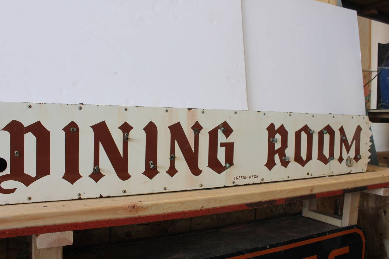 Vintage Porcelain Dining Room Sign 2