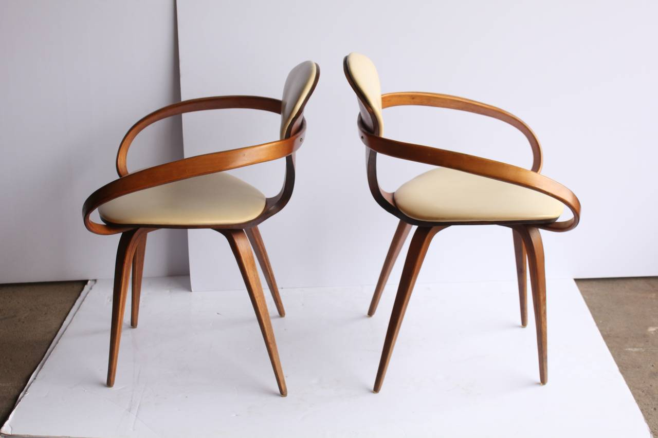 Mid Century Modern 1950s Pretzel Chairs By Norman Cherner For Sale
