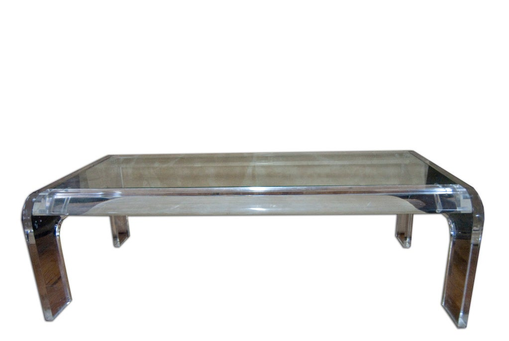 Modern American Lucite Coffee Table For Sale At 1stdibs