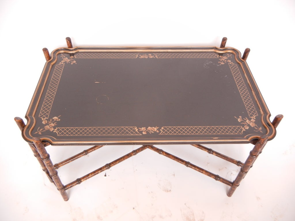 Vintage Baker Faux Bamboo Coffee Table For Sale At 1stdibs