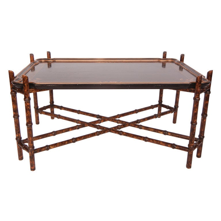 Baker Furniture Paris Coffee Table: Vintage Baker Faux Bamboo Coffee Table At 1stdibs