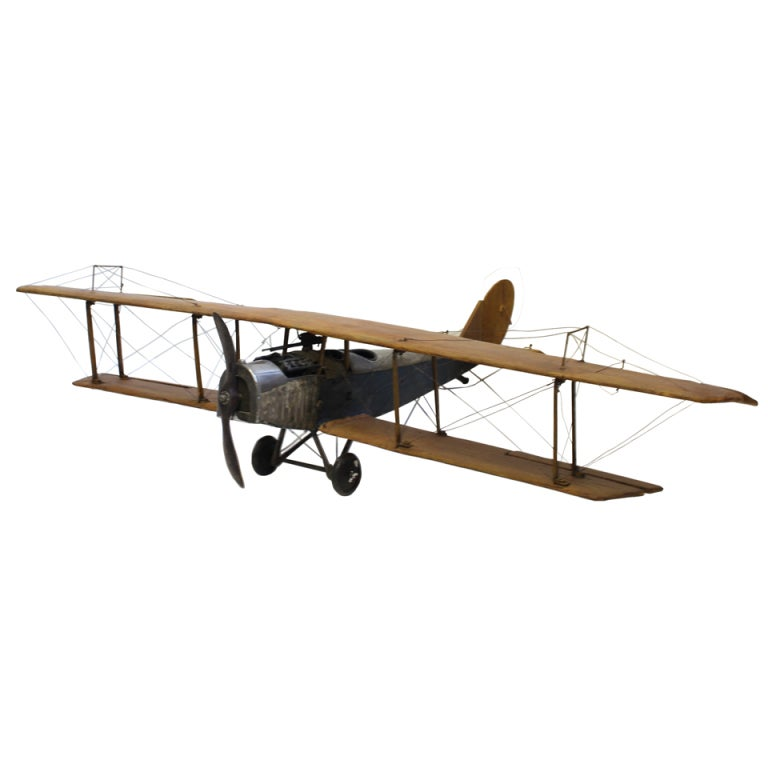 1920 39 S Hand Made Model Of Airplane Jenny For Sale At 1stdibs