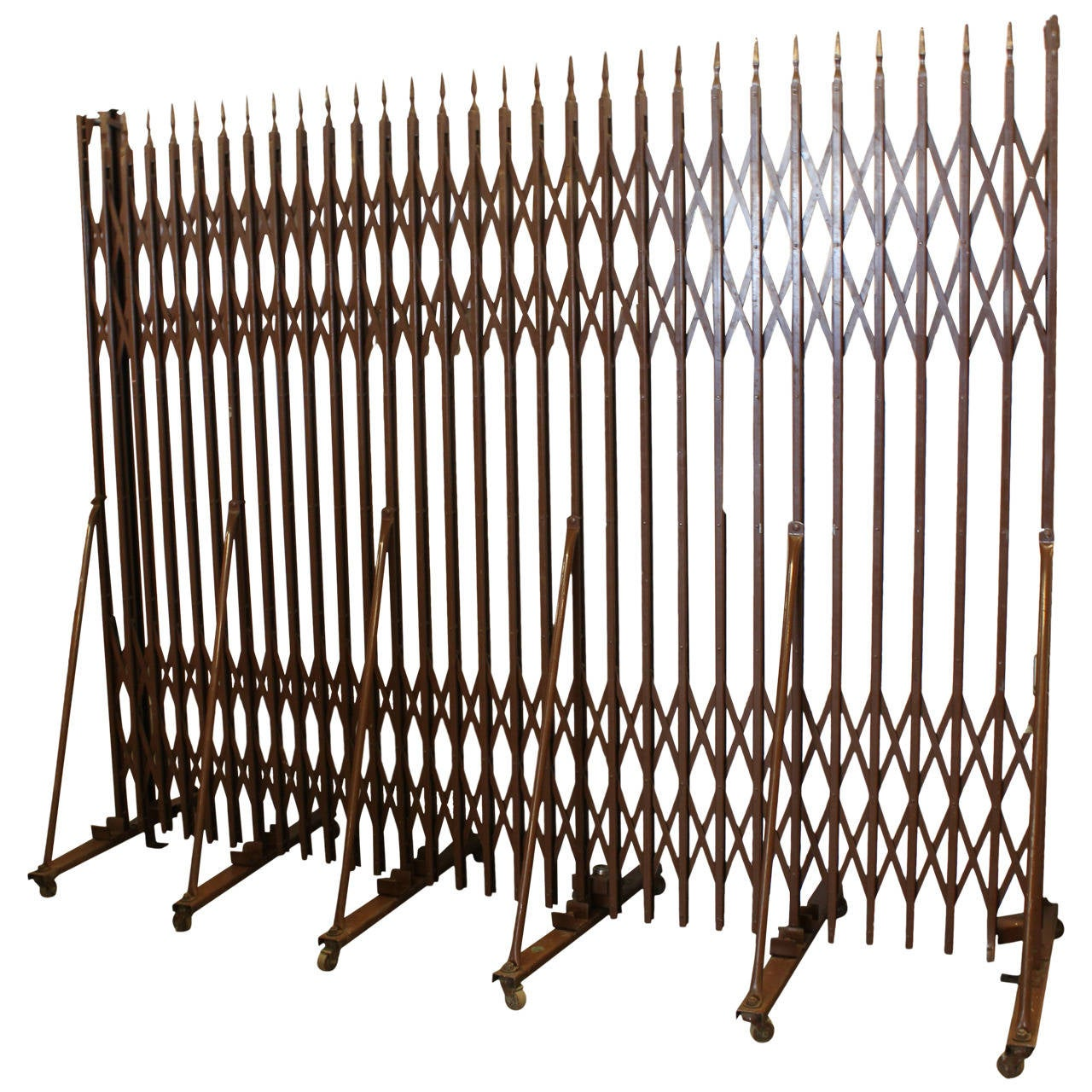 Vintage industrial expandable metal security gate at stdibs