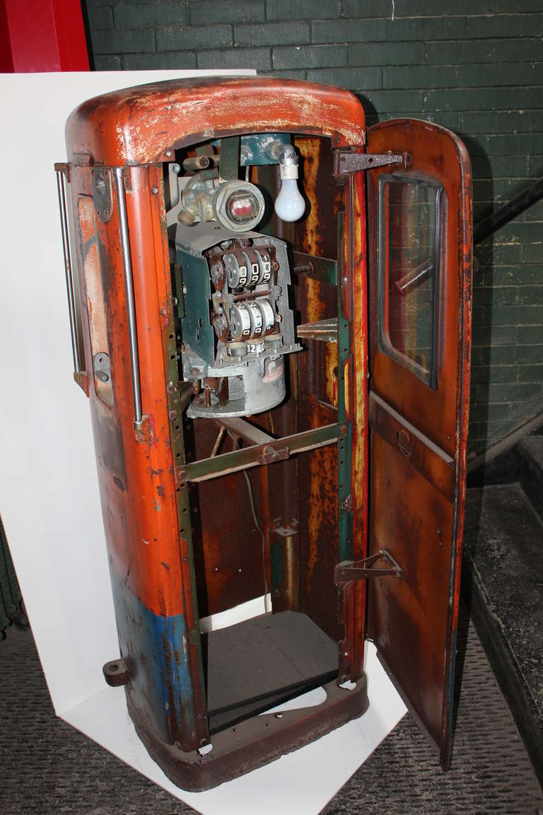 1950 S Folk Art Gas Pump At 1stdibs