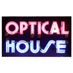 "1950's Original Neon Sign "" Optical House """
