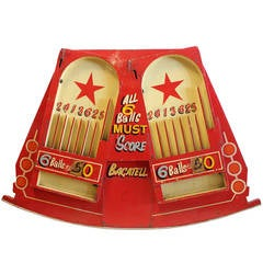 Large 1930s Carnival Game Board