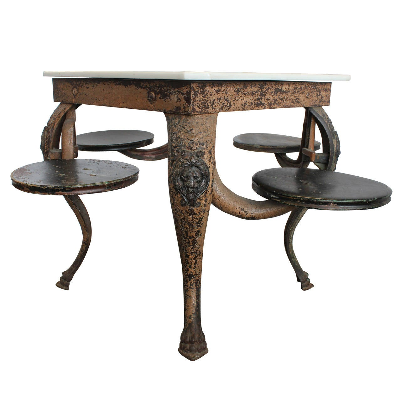S ice cream parlor cast iron table at stdibs