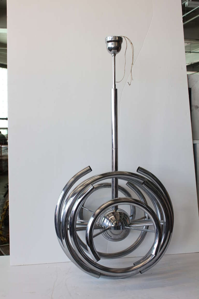 Mid Century Chrome Chandelier For Sale At 1stdibs
