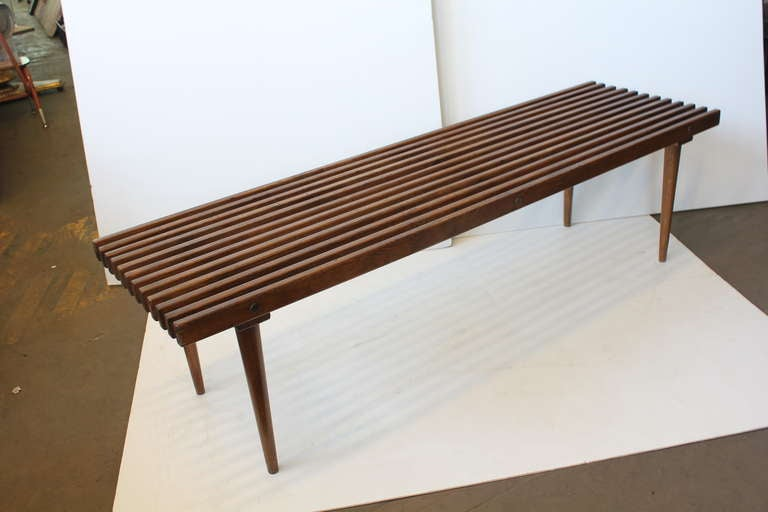wood slat benches 1