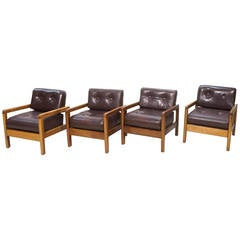 Stylish Milo Baughman Lounge Chairs for Thayer Coggin