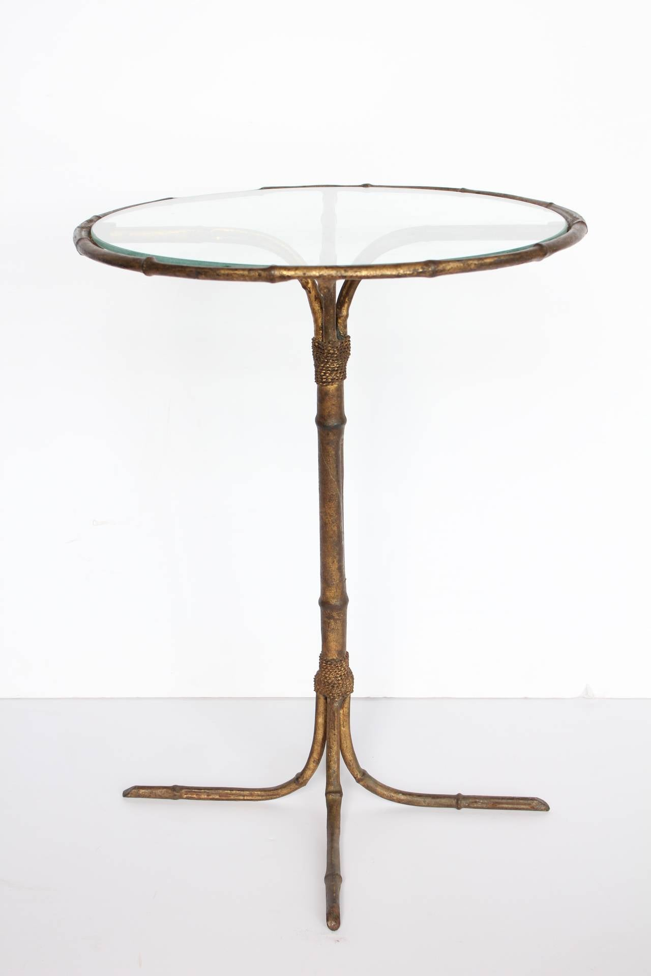 Martini Table Italian Gold Leaf Martini Table For Sale At 1Stdibs