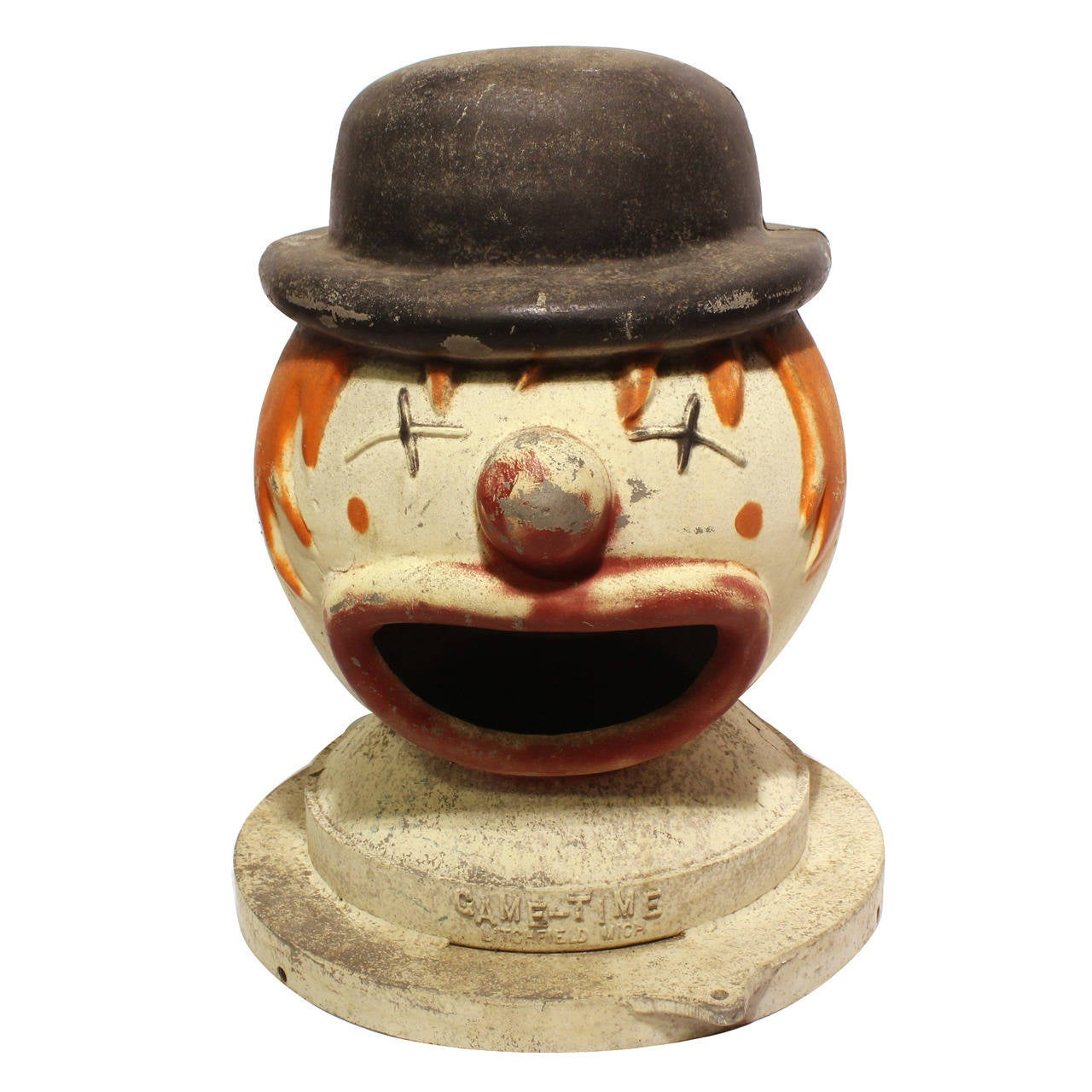 Large Vintage Carnival Clown Head Game For Sale