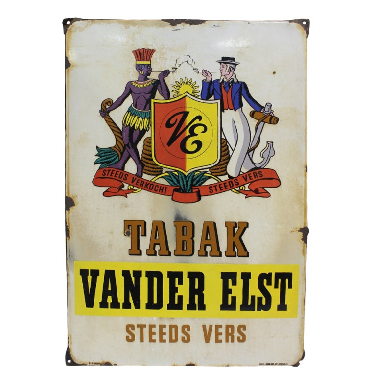 1930's Belgian Porcelain Tobacco Sign