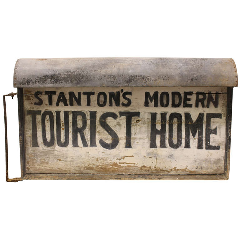 """1920's Light Up """" Tourist Home """" Double Sided Sign"""