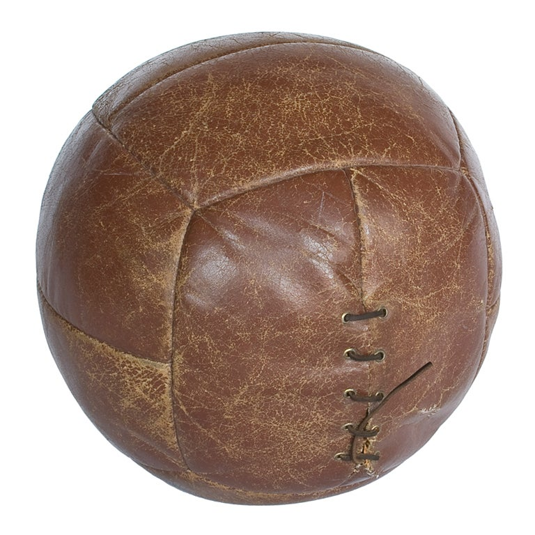 Antique Leather Medicine Ball At 1stdibs