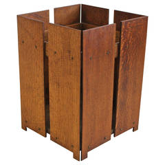 Antique Wood Waste Basket