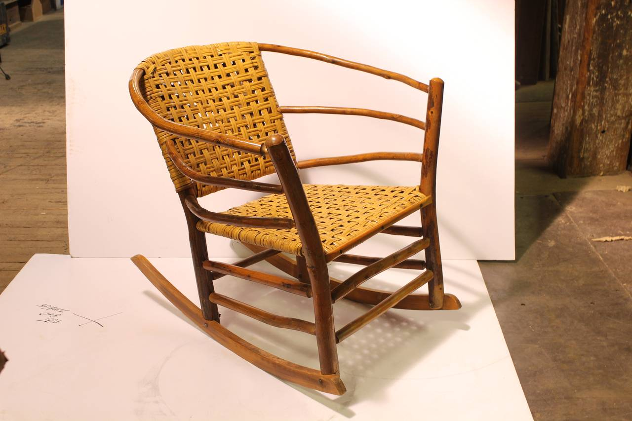1940s American Old Hickory Co Rocking Chair at 1stdibs