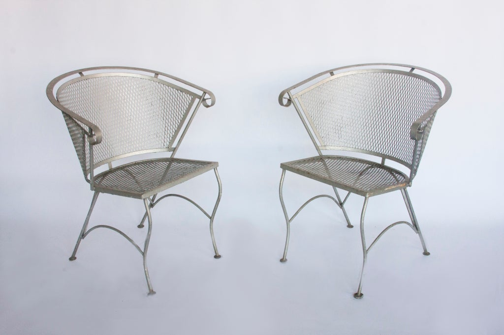 vintage metal garden chairs at 1stdibs
