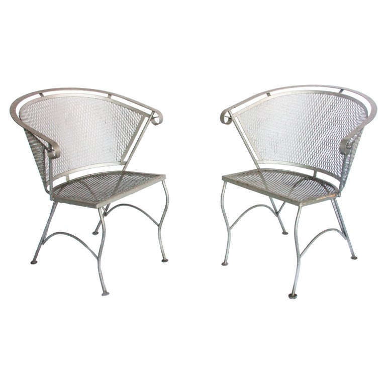 vintage metal garden chairs at 1stdibs