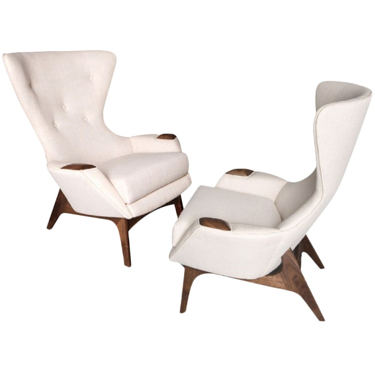 Adrian Pearsall Wing Lounge Chair at 1stdibs