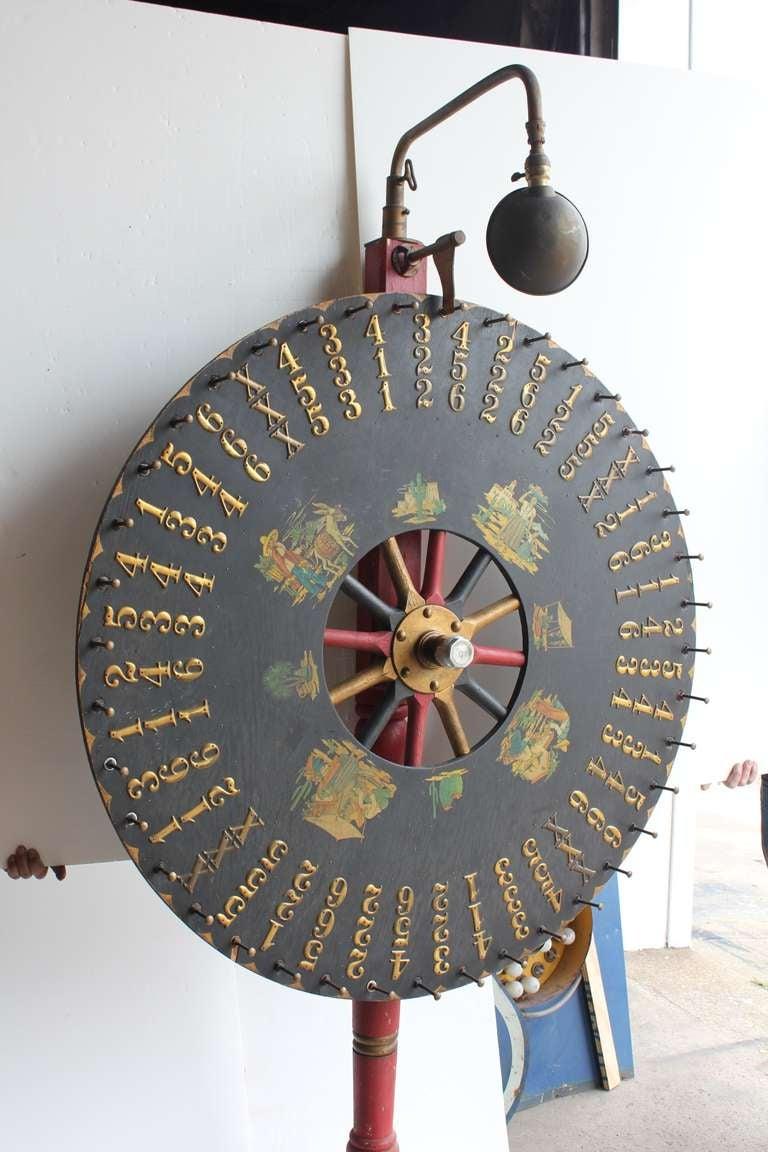 Antique Light Up Game Wheel For Sale At 1stdibs
