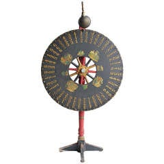 Antique Light Up Game Wheel