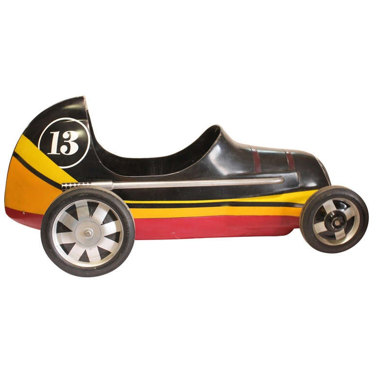 "Vintage ""Lucky 13 "" Soap Box Derby Carnival Ride Car"