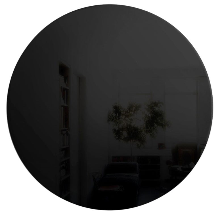 art deco style round black wall mirror more available for