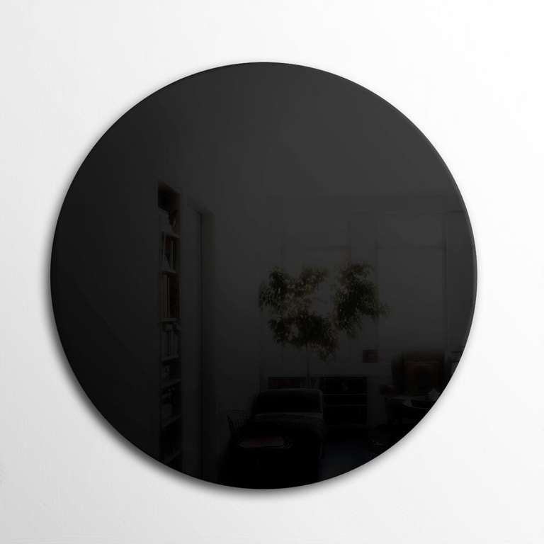 Art Deco Style Round Black Wall Mirror More Available For Sale At