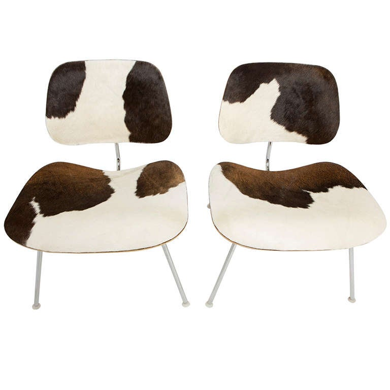 Charles and Ray Eames For Herman Miller LCM Cowhide Chairs 2