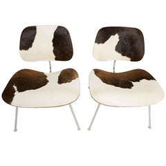 Charles & Ray Eames For Herman Miller LCM Cowhide Chairs, 2 available