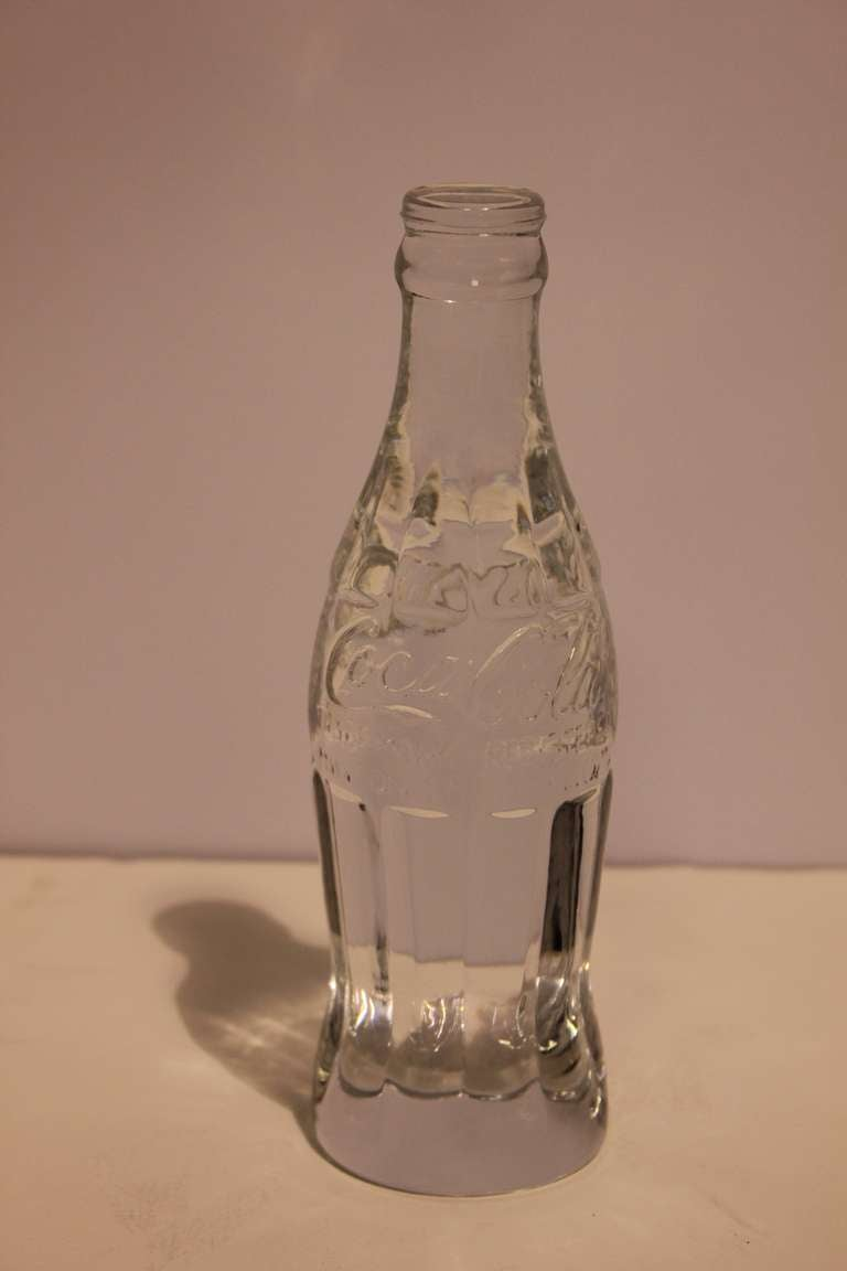 Crystal Coca Cola Bottle Paperweight At 1stdibs