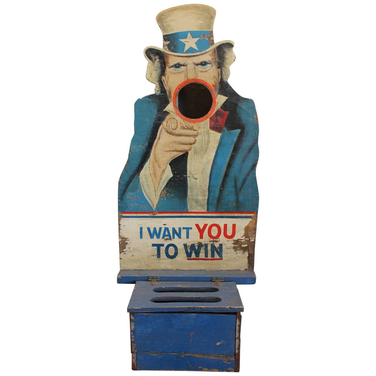 1940s Folk Art Carnival Uncle Sam Game