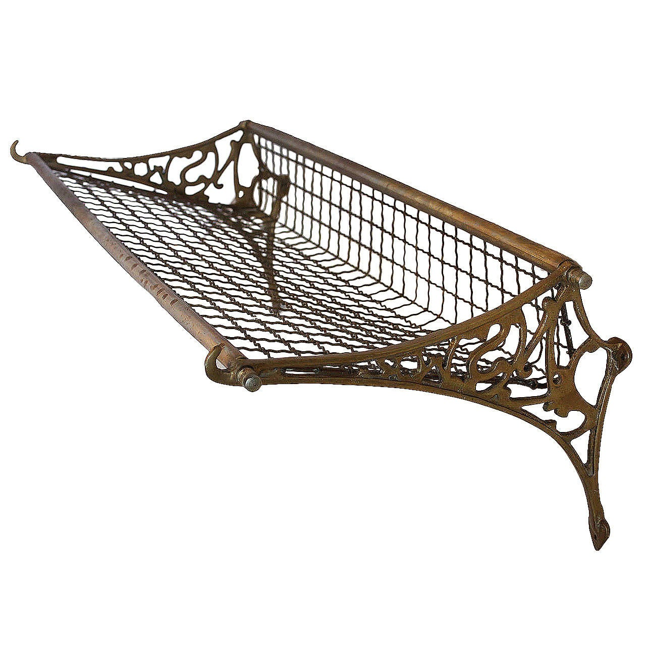 Antique Solid Brass Pullman Train Luggage Rack At 1stdibs