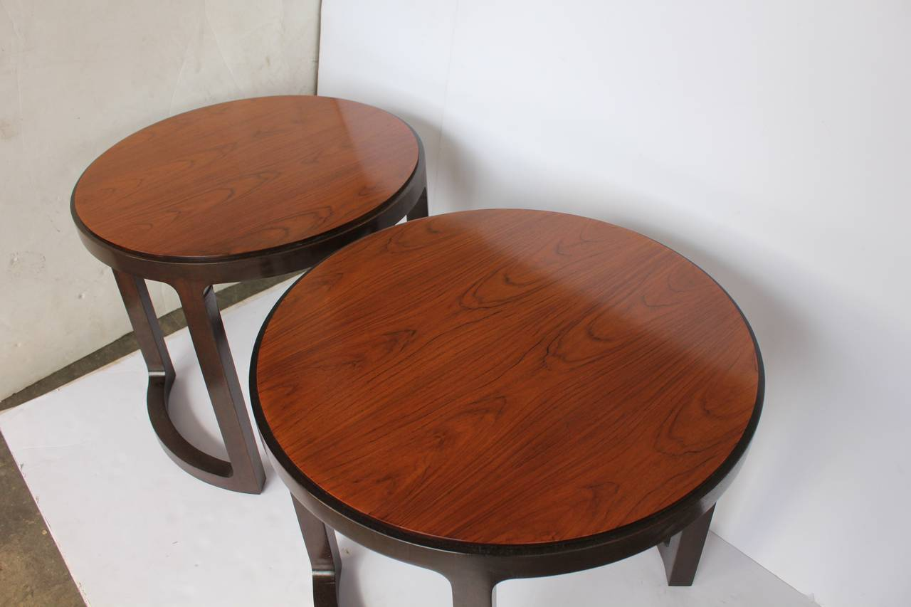 Stylish Side Tables by Edward Wormley for Dunbar In Good Condition For Sale In Chicago, IL
