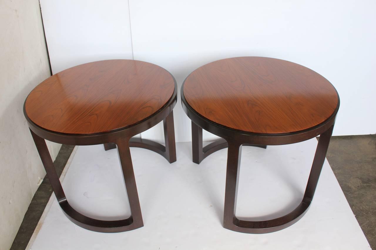 Mid-Century Modern Stylish Side Tables by Edward Wormley for Dunbar For Sale
