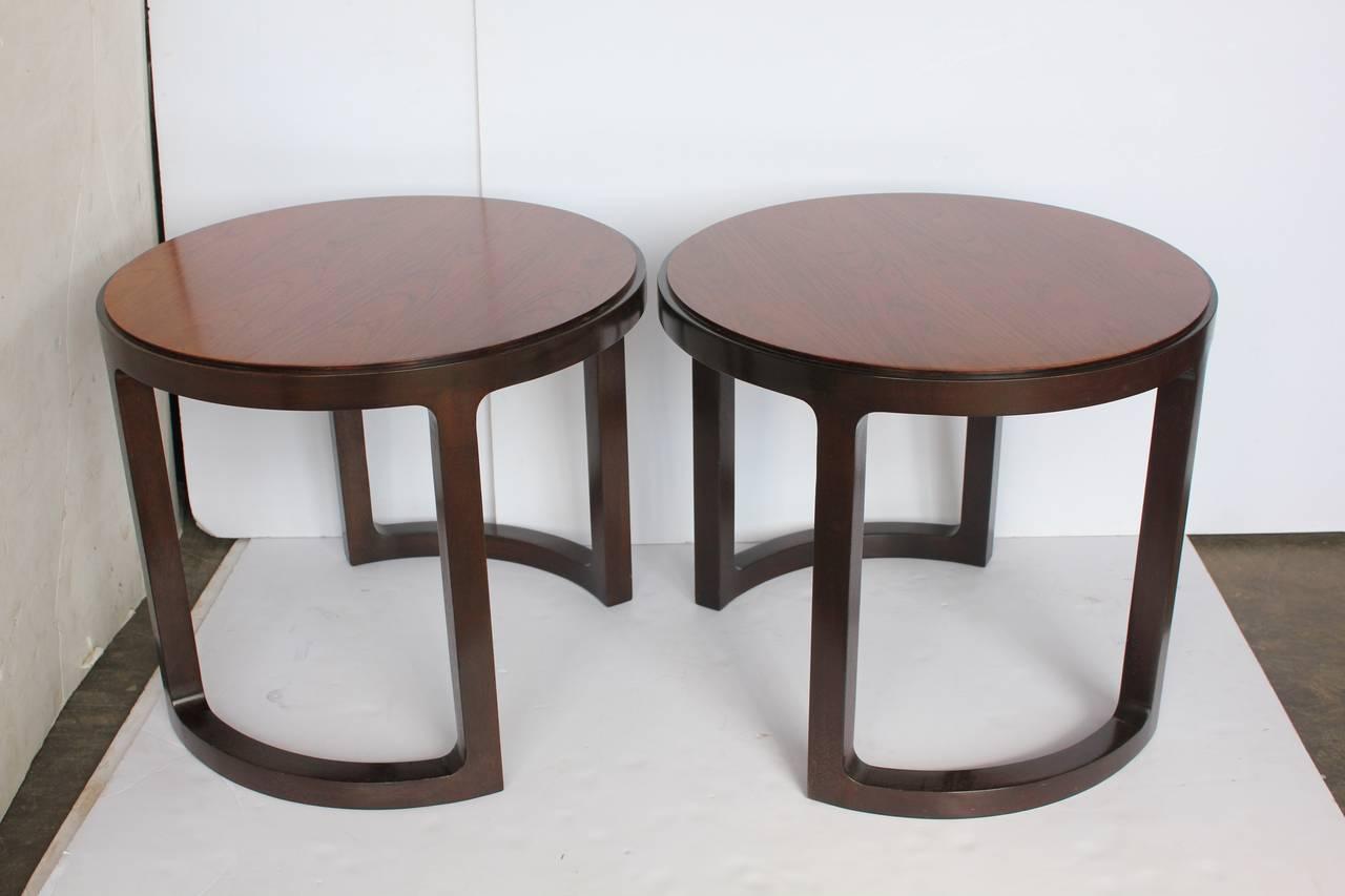 Stylish side tables by Edward Wormley for Dunbar.