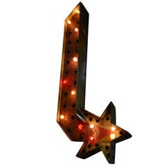 Vintage Double Sided Light Up Star Arrow