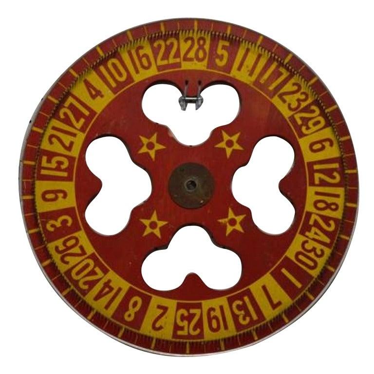 Vintage Carnival Game Wheel
