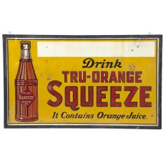 "1930's Oversized "" Squeeze "" Sign"