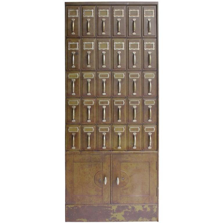 1900s American Industrial Metal File Cabinet At 1stdibs