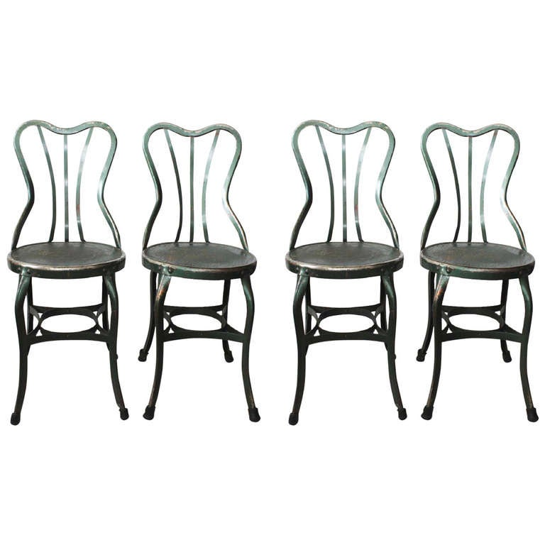Original UHL Art Steel Chairs By Toledo Metal Furniture Company 1