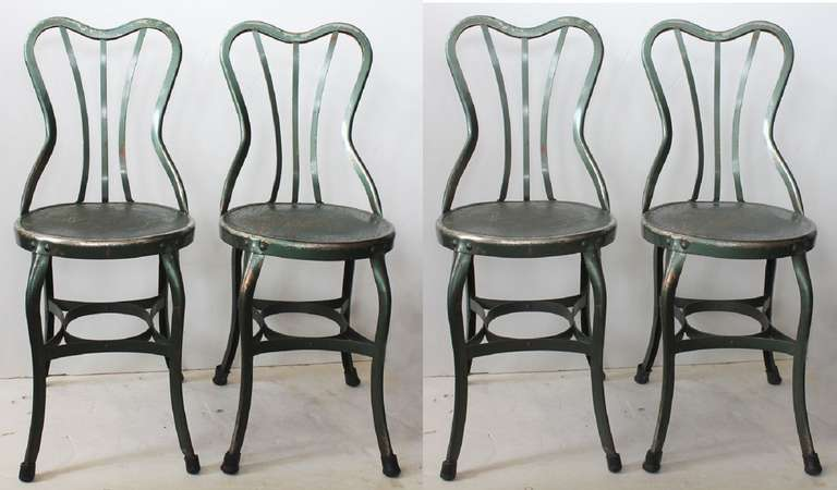 Delicieux Set Of Four Original Vintage UHL Art Steel Chairs By Toledo Metal Furniture  Company. More