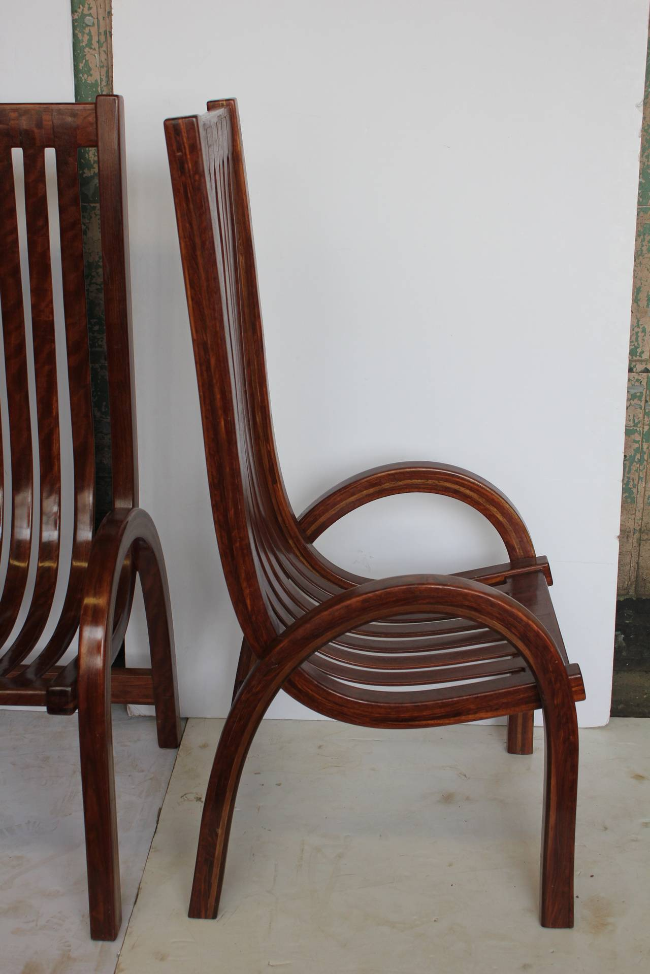 modern bentwood tall back dining chairs for sale at 1stdibs. Black Bedroom Furniture Sets. Home Design Ideas
