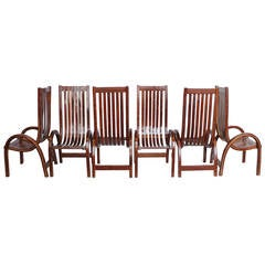 Modern Bentwood Tall Back Dining Chairs