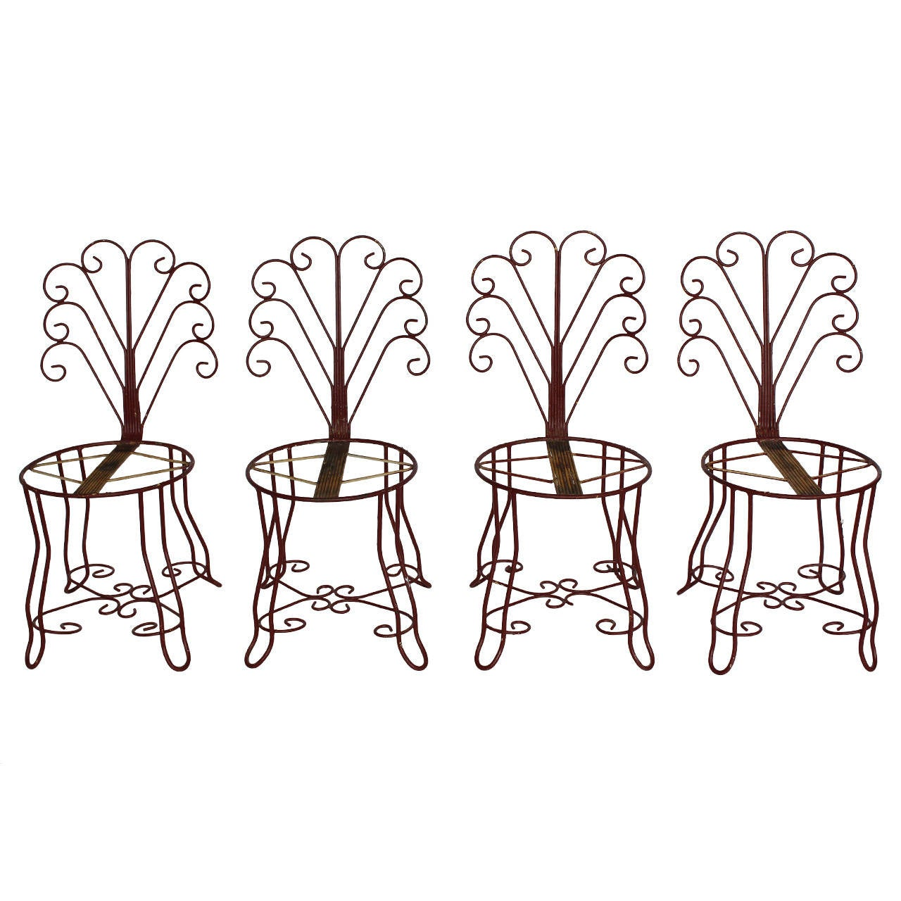 1930s French Iron Garden Chairs