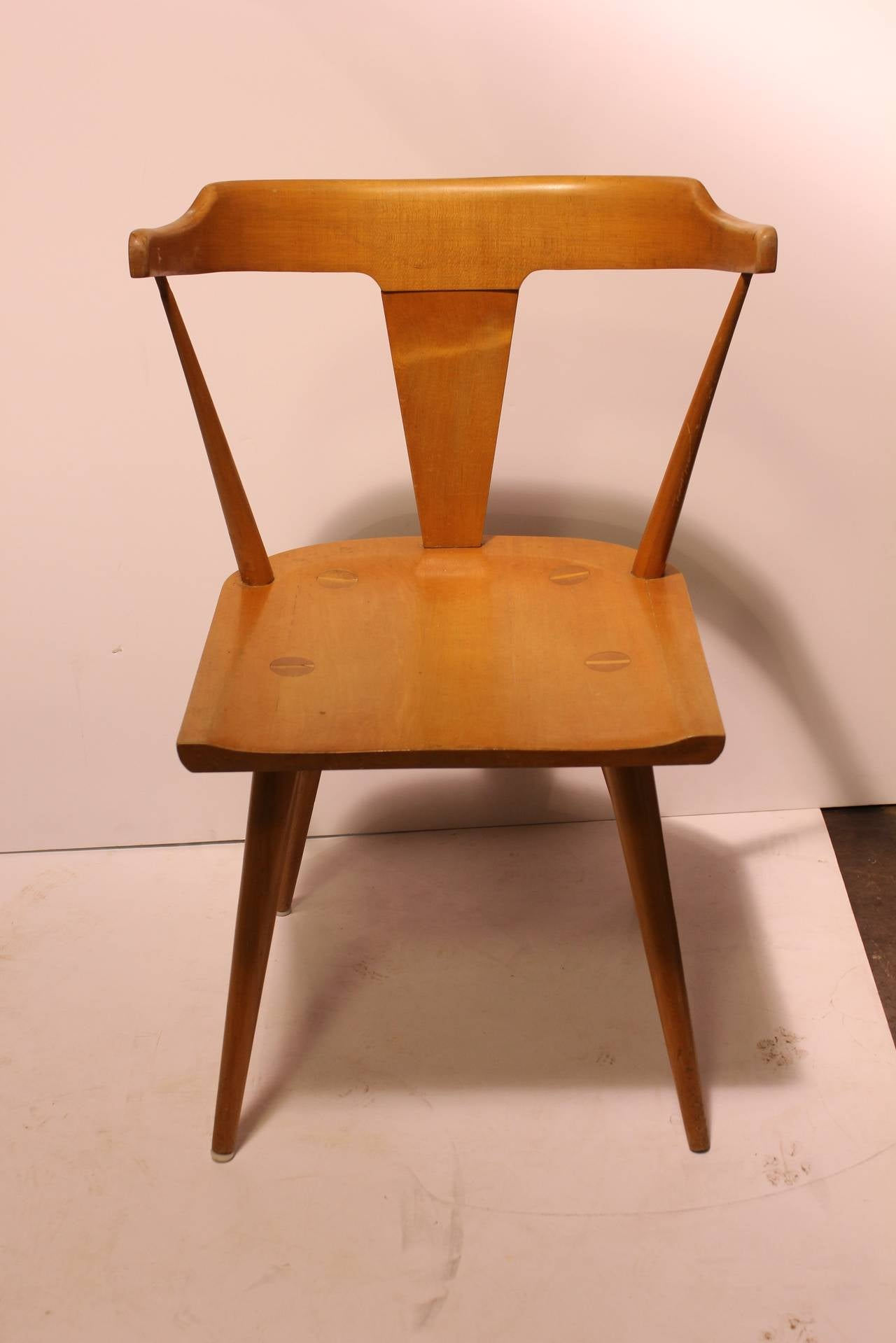 Stylish mid century Paul McCobb Planner group desk/side chair.