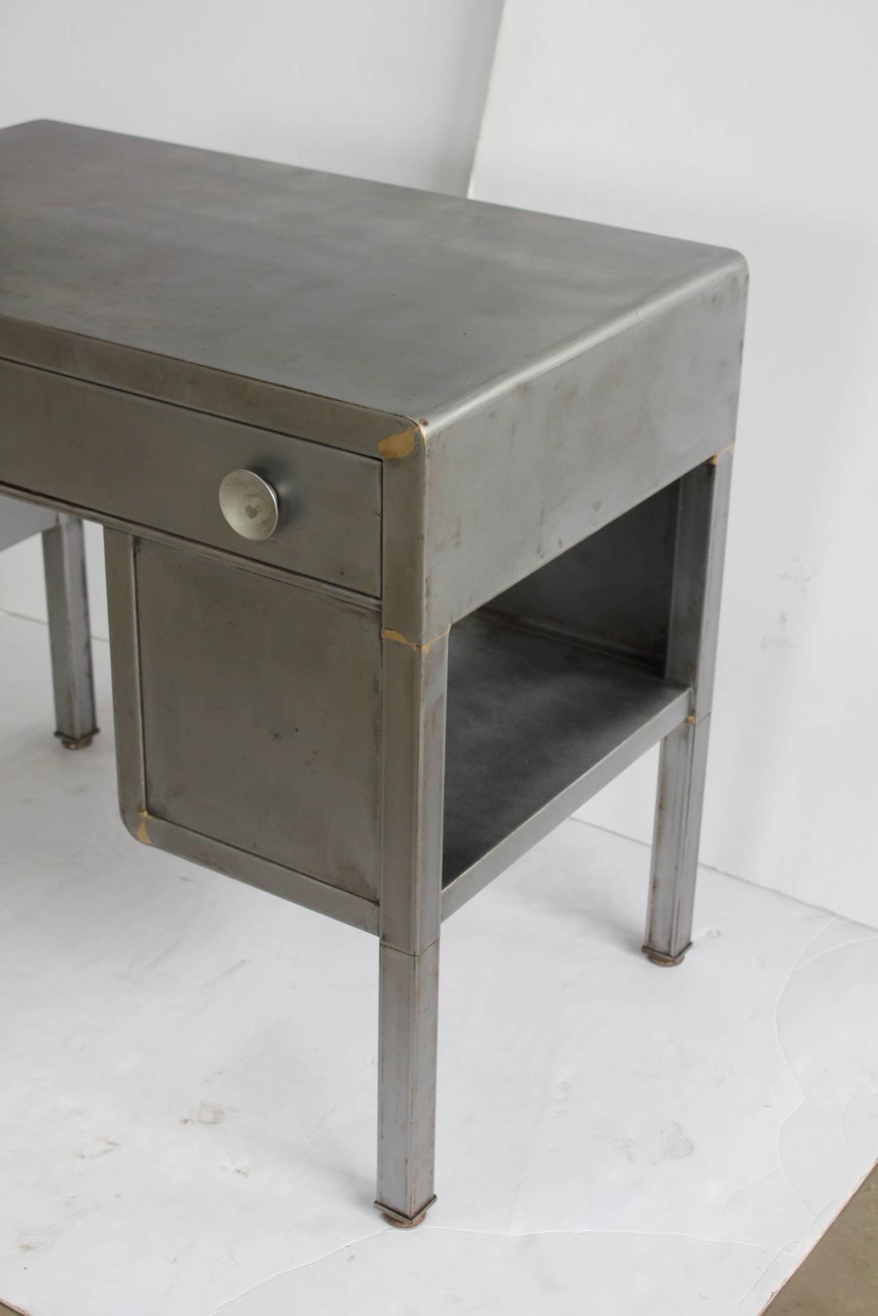 Vintage Industrial Metal Desk by Norman Bel Geddes at 1stdibs